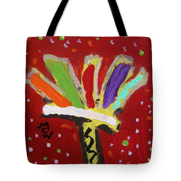 My Colorful Brush Tote Bag by Mary Carol Williams