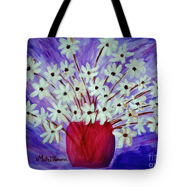 My Daisies Blue Version Tote Bag