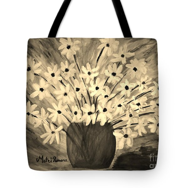 My Daisies Sepia Version Tote Bag
