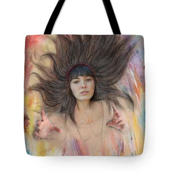 My Drawing Of A Beauty Coming Alive II Tote Bag