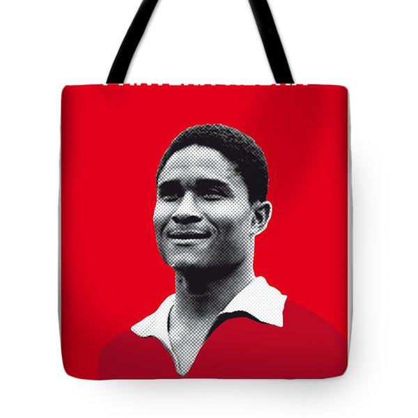 My Eusebio Soccer Legend Poster Tote Bag