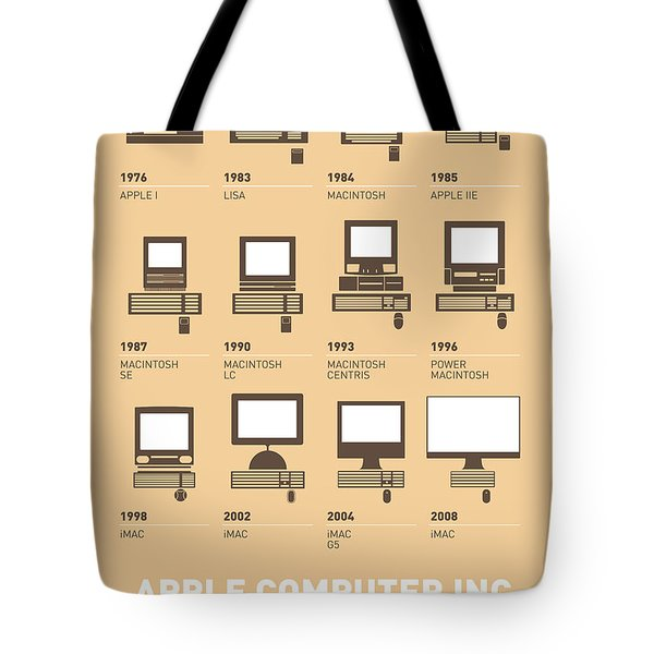 My Evolution Apple Mac Minimal Poster Tote Bag