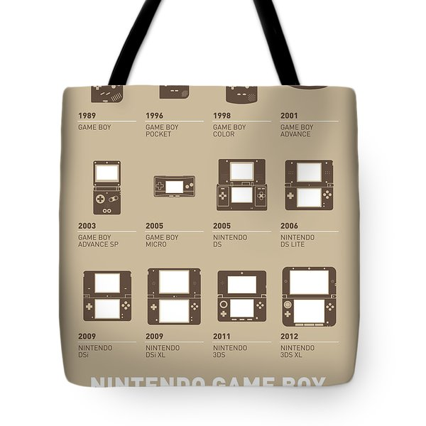 My Evolution Nintendo Game Boy Minimal Poster Tote Bag