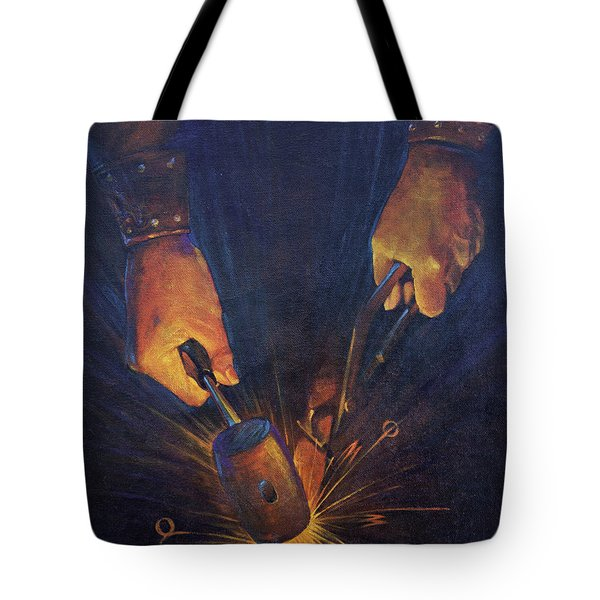 My Fathers Hands Tote Bag by Rob Corsetti