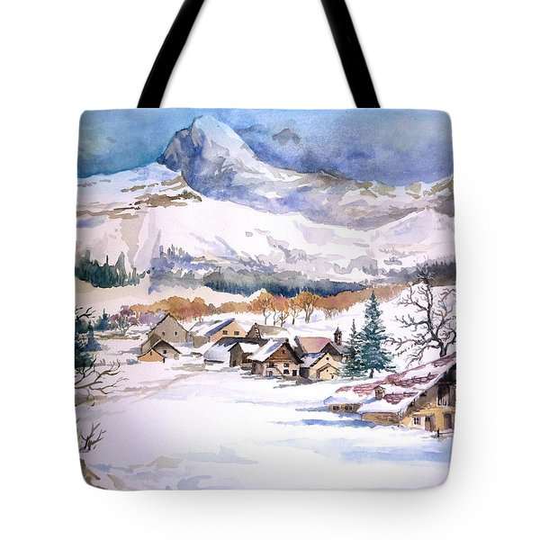 My First Snow Scene Tote Bag