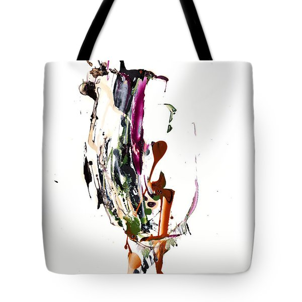Tote Bag featuring the painting My Form Of Jazz Series - 10186.110709 by Kris Haas