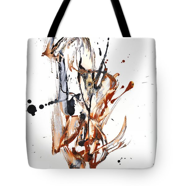 Tote Bag featuring the painting My Form Of Jazz Series - 10188.110709 by Kris Haas