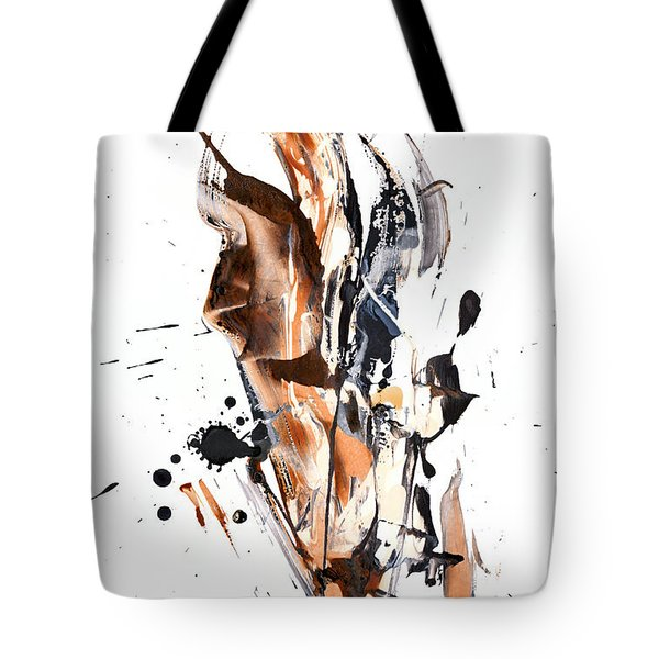 Tote Bag featuring the painting My Form Of Jazz Series - 10189.110709 by Kris Haas