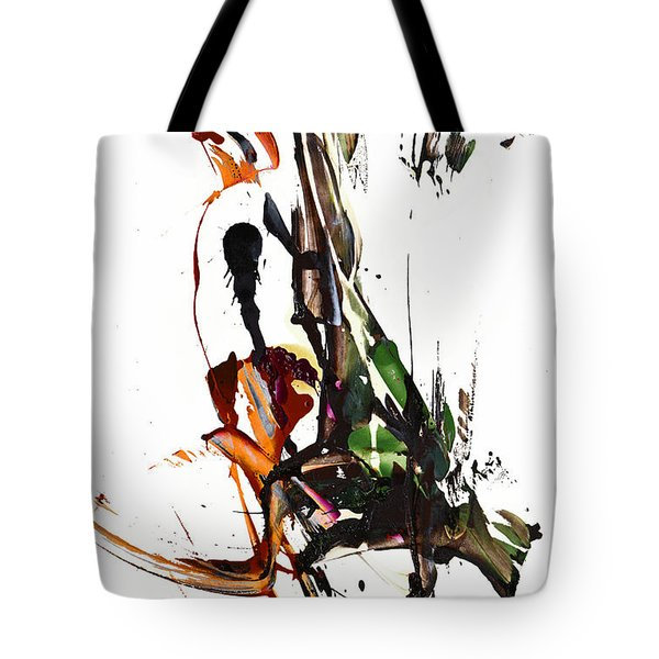 Tote Bag featuring the painting My Form Of Jazz Series - 10185.110709 by Kris Haas