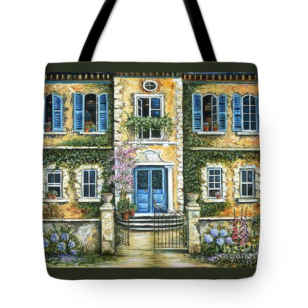 My French Villa Tote Bag by Marilyn Dunlap