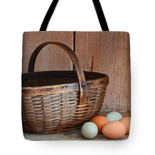 My Grandma's Egg Basket Tote Bag