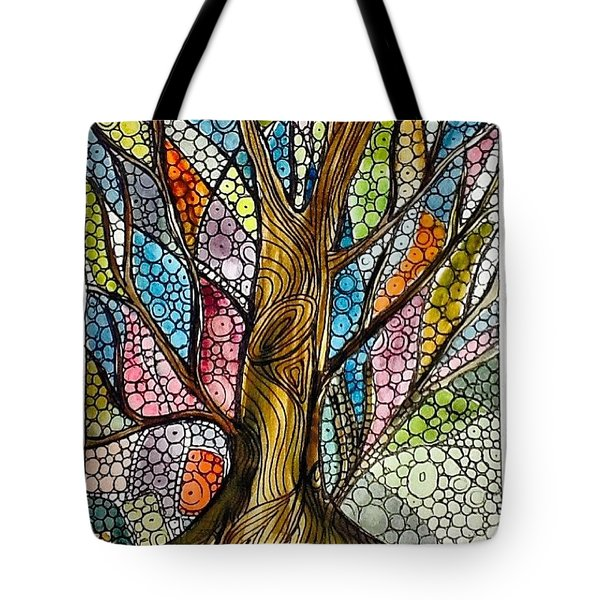 My Happy Watercolor Tree Tote Bag