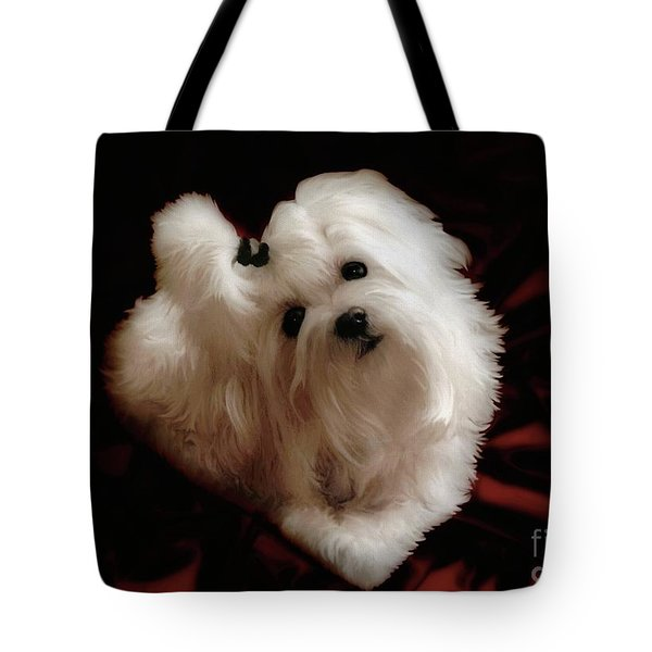 My Heart My Muse Tote Bag by Lois Bryan