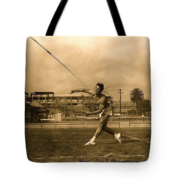 My #hero, George Porter, 1968 Tote Bag by Anna Porter