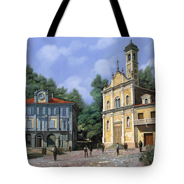 My Home Village Tote Bag by Guido Borelli