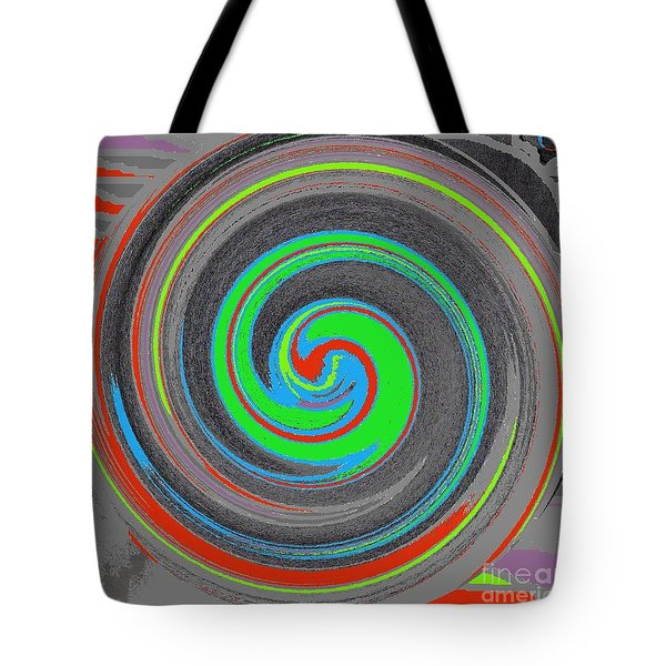 Tote Bag featuring the digital art My Hurricane by Catherine Lott