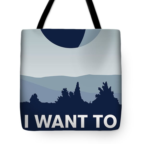 My I Want To Believe Minimal Poster-deathstar Tote Bag