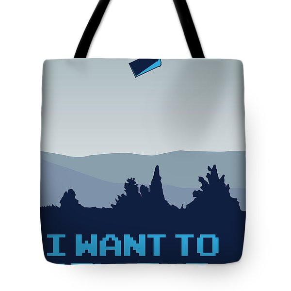 My I Want To Believe Minimal Poster- Tardis Tote Bag