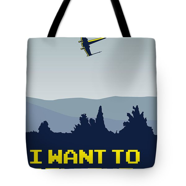 My I Want To Believe Minimal Poster- Xwing Tote Bag