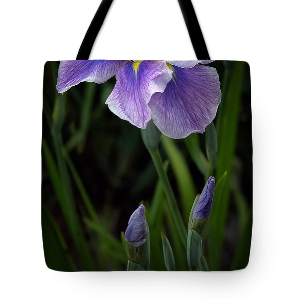 Tote Bag featuring the photograph My Iris by Penny Lisowski