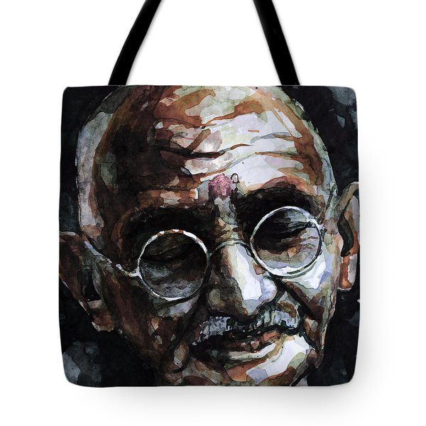 Tote Bag featuring the painting My Life Is My Message by Laur Iduc