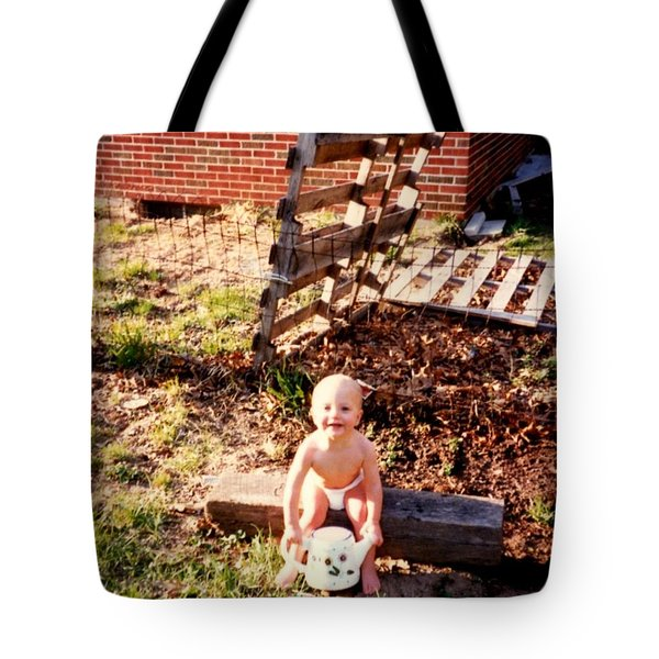 Tote Bag featuring the photograph My Lil Gardener by Kelly Awad