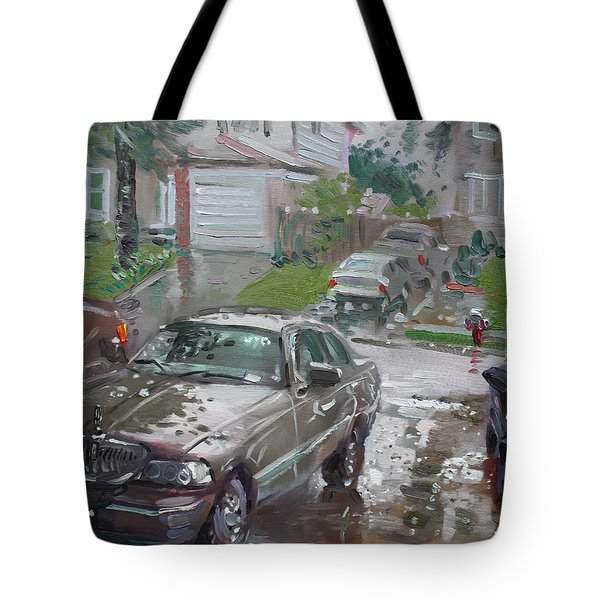 My Lincoln In The Rain Tote Bag