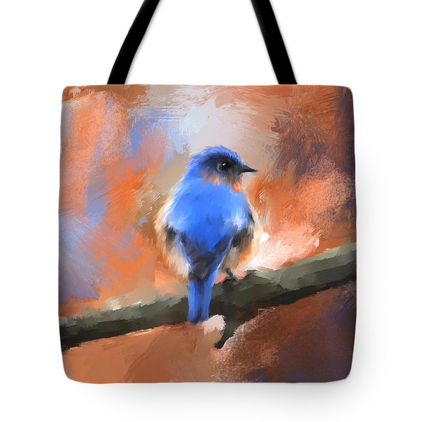 My Little Bluebird Tote Bag