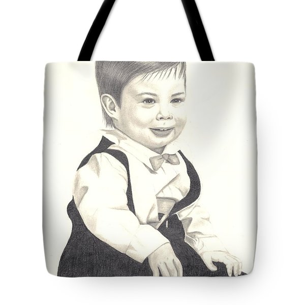 Tote Bag featuring the drawing My Little Boy by Patricia Hiltz