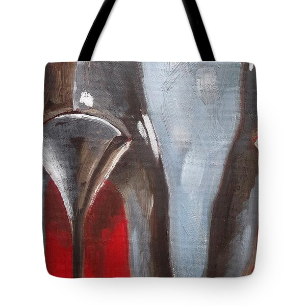 My Louboutin Black Heels Tote Bag