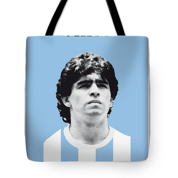 My Maradona Soccer Legend Poster Tote Bag by Chungkong Art