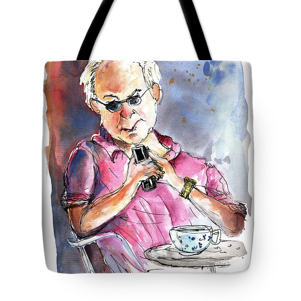 My Mobile And Me Tote Bag by Miki De Goodaboom