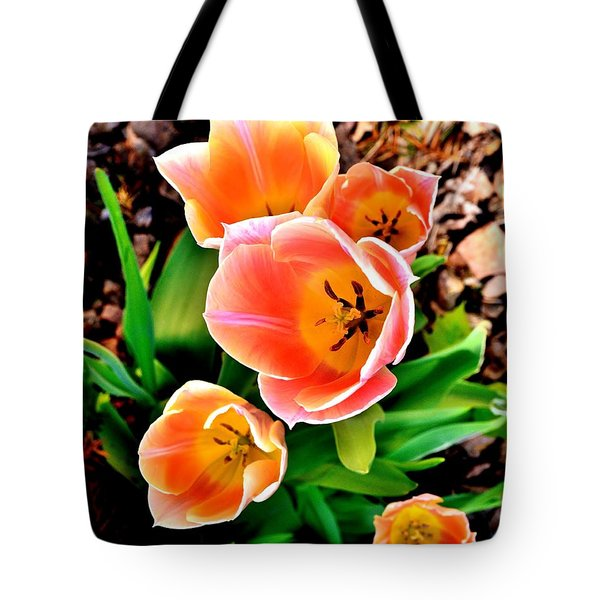 My Mom's Tulips Tote Bag