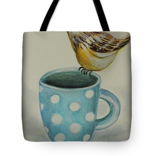 Polka Dot Songbird Delight Tote Bag by Elizabeth Robinette Tyndall