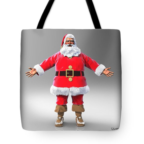 Tote Bag featuring the sculpture My Name Is Santa by Dave Luebbert