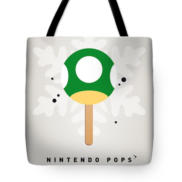 My Nintendo Ice Pop - 1 Up Mushroom Tote Bag by Chungkong Art