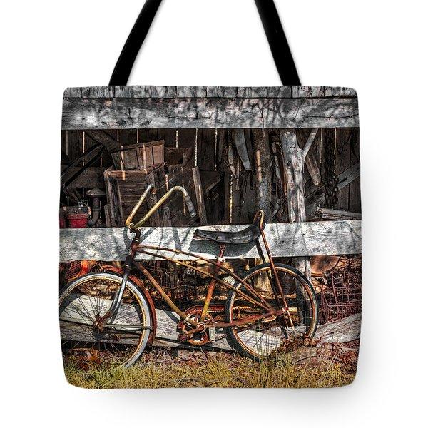 My Old Bike Tote Bag by Debra and Dave Vanderlaan