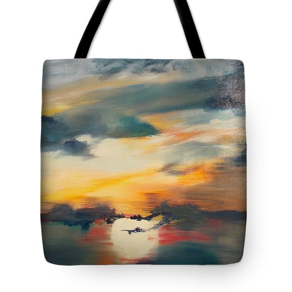 Tote Bag featuring the painting My Paradise Sunrise by PainterArtist FIN