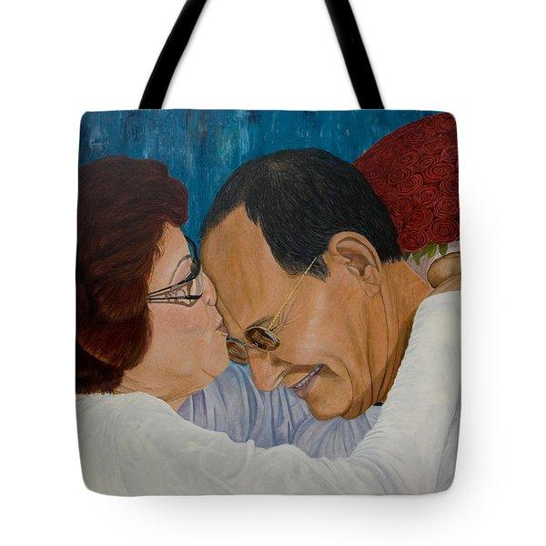 My Parents Original Oil Painting 36x24in Tote Bag