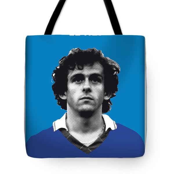 My Platini Soccer Legend Poster Tote Bag by Chungkong Art