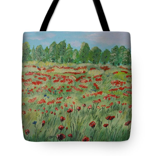 My Poppies Field Tote Bag by Felicia Tica