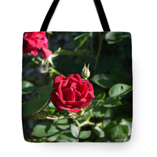 My Red Rose Tote Bag by Alys Caviness-Gober