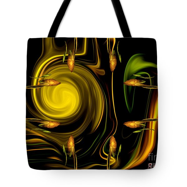 Tote Bag featuring the digital art My Secret Garden - Abstract Art By Giada Rossi by Giada Rossi