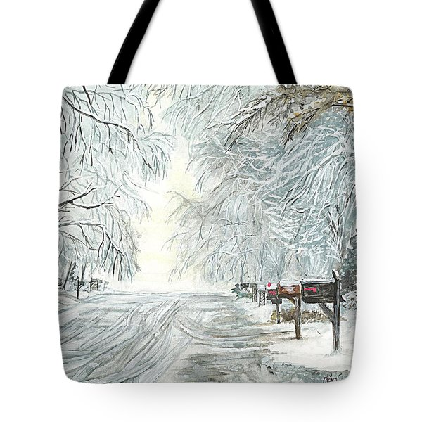 My Slippery Street  Tote Bag by Carol Wisniewski