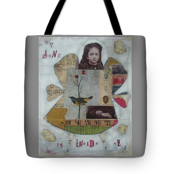 My Song Is Inside Me Tote Bag by Casey Rasmussen White