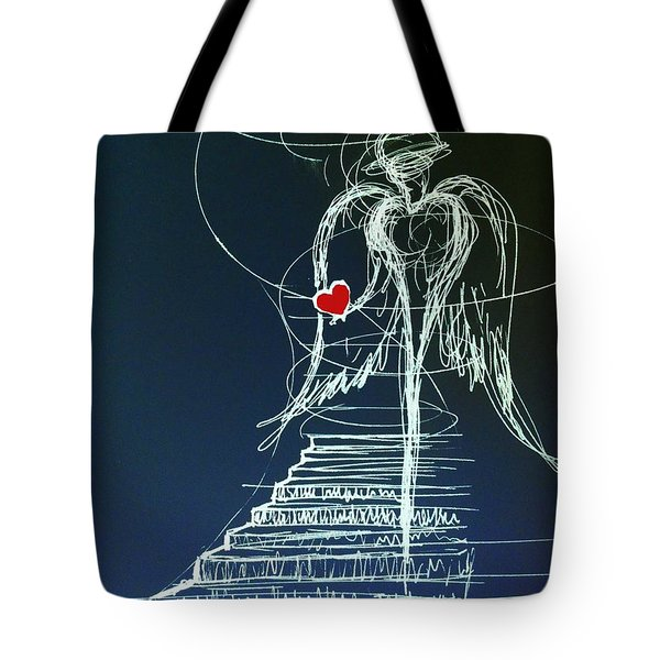 My Soul Awaits With Love At Hand Tote Bag