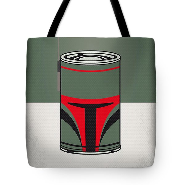 My Star Warhols Boba Fett Minimal Can Poster Tote Bag by Chungkong Art