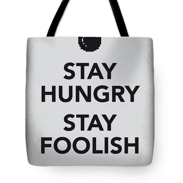 My Stay Hungry Stay Foolish Poster Tote Bag by Chungkong Art