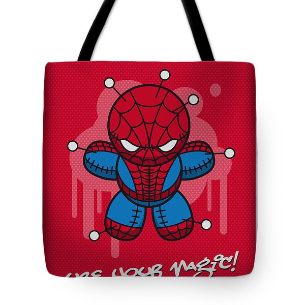 My Supercharged Voodoo Dolls Spiderman Tote Bag