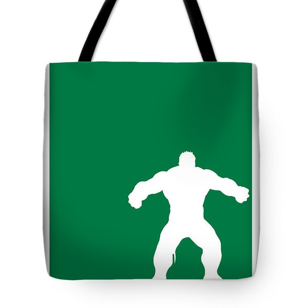 My Superhero 01 Angry Green Minimal Poster Tote Bag by Chungkong Art
